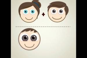 De que cor serão os olhos do seu bebê?