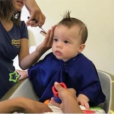 #repost from @cyntiaribeiro  Ficando mais gatinho ???????????? . . #filho #bebe #amormaior #filhomeu #lindo #fofo #beleza #cabelo #cortedecabelo #cort