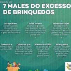 Dica do dia: 7 males do excesso de brinquedos. . . #brinquedos #criança #bebê #filhos #excesso #dica #recomendo #brasil #goias #goiania #choro #birra